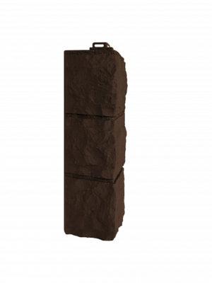 Угол наружный Фасайдинг Дачный Доломит Темно-коричневый