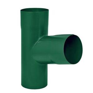 Тройник трубы Aquasystem 125/90 RAL6005 Зеленый
