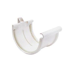 Соединитель желоба Murol (Eslon) белый, на резиновых уплотнителях