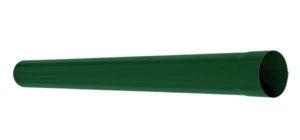 Труба водосточная соединительная 1м Aquasystem 125/90 RAL6005 Зеленый