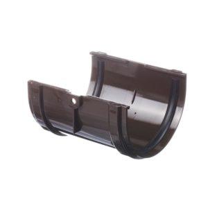 Соединитель желобов Docke Premium 120/85 Шоколад