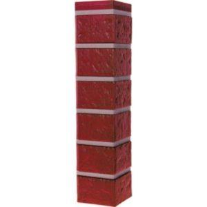 Угол наружный для Цокольного сайдинга FineBer Кирпич Красный Обожжёный