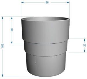 Муфта трубы соединительная Docke Premium 120/85 Пломбир