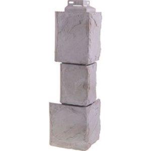 Угол наружный для Цокольного сайдинга FineBer Камень Крупный Мелованный Белый
