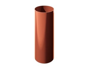 Труба водосточная Verat Технониколь 125/80 Красный глянец, 1,5 м