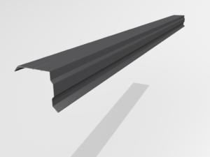 Планка торцевая (ветровая) для металлочерепицы Pe Ral 7024