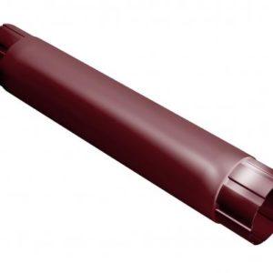 Труба соединительная 1м Grand Line 125/90 RAL 3005 Красное вино