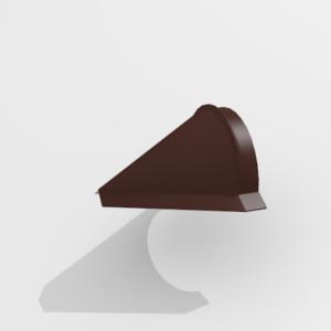 Заглушка конька конусная для металлочерепицы Pe Ral 8017