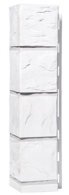 Угол наружный FineBer Фасайдинг Дачный Сланец Белый