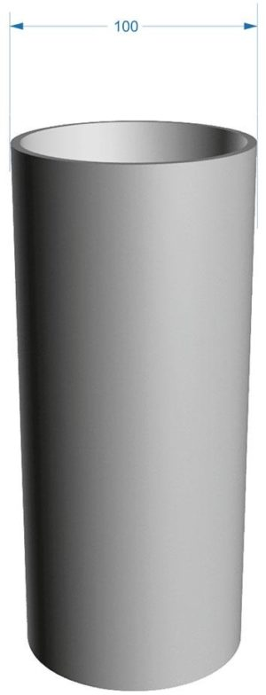 Труба водосточная Docke LUX 141/100 Графит, 3 м