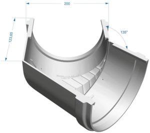 Угол желоба 135˚ Docke Premium 120/85 Гранат