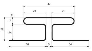 H-профиль соединительный Grand Line Белый
