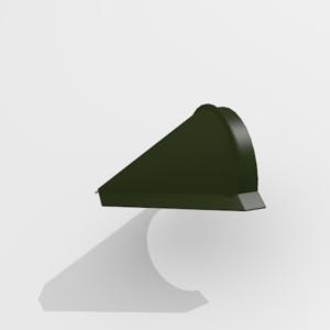 Заглушка конька конусная для металлочерепицы Pe Ral 6415