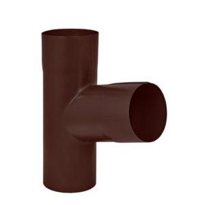 Тройник трубы Aquasystem 125/90 RAL8017 коричневый