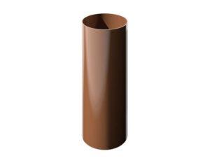 Труба водосточная Verat Технониколь 125/80 Коричневый глянец, 1,5 м