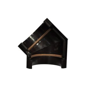 Угол желоба Murol (Eslon) 135° коричневый, на резиновых уплотнителях