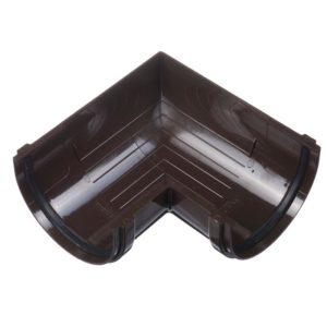 Угол желоба 90˚ Docke Premium 120/85 Шоколад