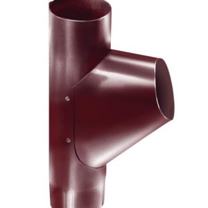 Тройник трубы Grand Line 125/90 RAL 3005 Красное вино