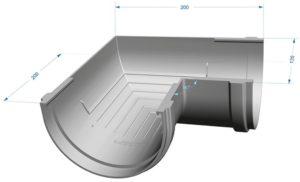Угол желоба 90˚ Docke Premium 120/85 Гранат
