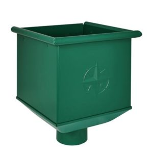Воронка водосборная Aquasystem 125/90 RAL6005 Зеленый