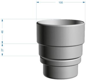 Переходник Standard/LUX Docke Графит