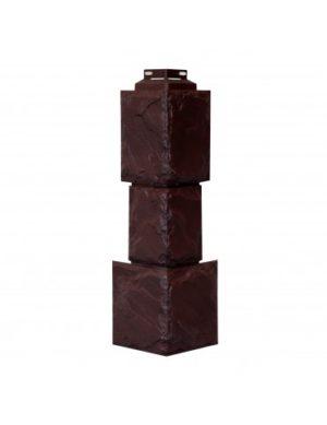 Угол наружный для Цокольного сайдинга FineBer Камень Крупный Коричневый