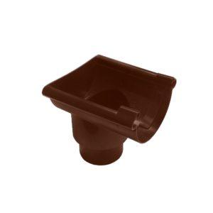 Воронка желоба торцевая Murol (Eslon) коричневая, на резиновых уплотнителях