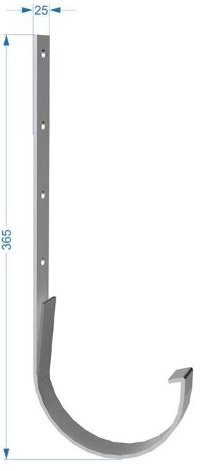 Кронштейн желоба металлический Docke Premium 120/85 Пломбир длинный