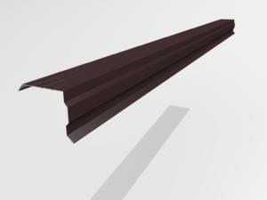 Планка торцевая (ветровая) для металлочерепицы Pe Ral 8477