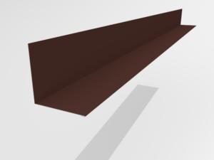 Планка примыкания для металлочерепицы Pe Ral 8017