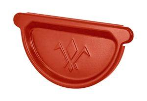 Заглушка желоба Aquasystem 125/90 RR29 Красный