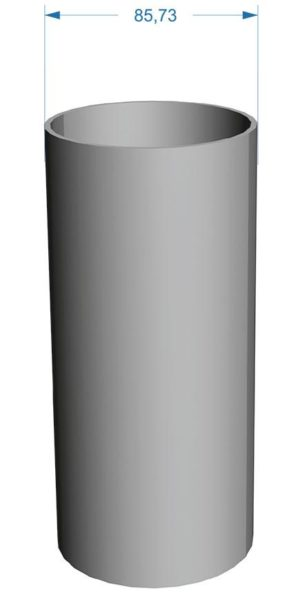 Труба водосточная Docke Premium 120/85 Шоколад, 3 м