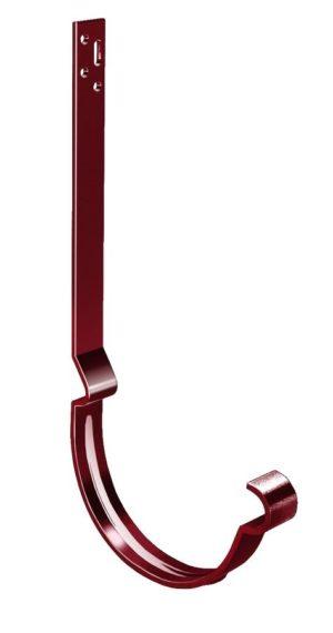 Крюк желоба длинный полоса Grand Line 125/90 RAL 3005 Красное вино