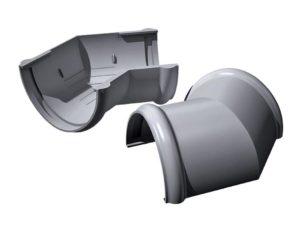 Угол желоба 135˚ Verat Технониколь 125/80 Серый