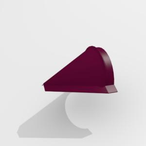 Заглушка конька конусная для металлочерепицы Pe Ral 3005
