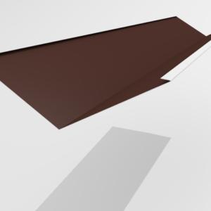 Ендова внутренняя для металлочерепицы Pe Ral 8017