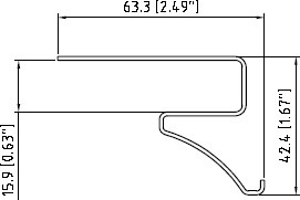 Планка декоративная отделочная Tecos Белая