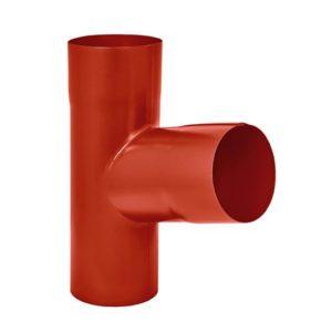 Тройник трубы Aquasystem 125/90 RR29 Красный