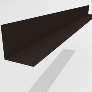 Планка примыкания для металлочерепицы Pe Ral 8019