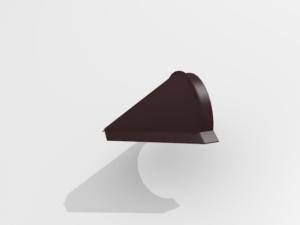 Заглушка конька конусная для металлочерепицы Pe Ral 8477