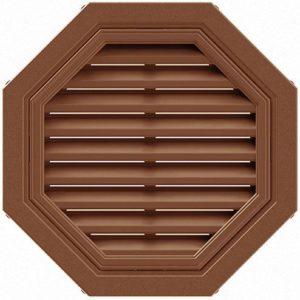 Вентиляционная решетка восьмиугольная коричневая