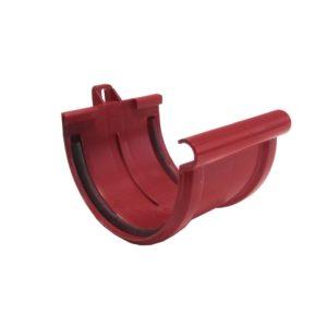 Соединитель желоба Murol (Eslon) красный, на резиновых уплотнителях