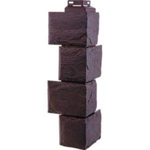 Угол наружный для Цокольного сайдинга FineBer Камень Природный Коричневы