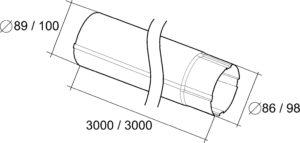Труба водосточная 3м Grand Line 125/90 RAL 9003 Сигнально-белый