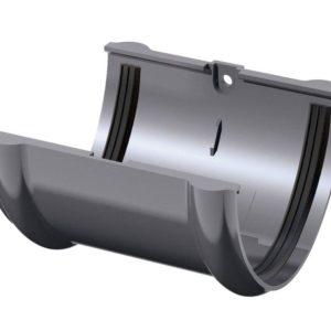 Соединитель желобов Verat Технониколь 125/80 Серый