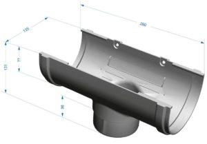 Воронка желоба Docke Premium 120/85 Гранат