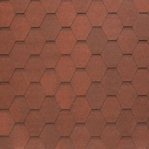 Гибкая черепица Tegola Nobil Tile Вест Темно-красный