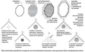Вентиляционная решетка восьмиугольная белая