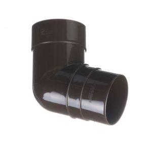 Колено трубы 72˚ Docke Premium 120/85 Шоколад