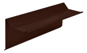 Планка торцевая фронтонная S5 Pe RAL8017